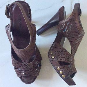 A. Marinelli brown heels